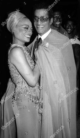 Eartha Kitt and Sammy Davis Jr.