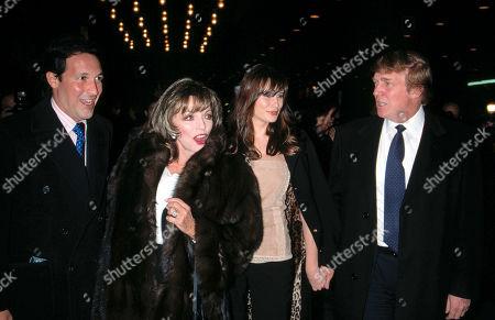 Percy Gibsons, Joan Collins, Melania Knauss and Donald Trump