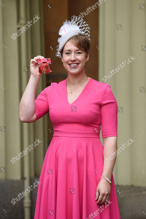 Lizzy Yarnold receives an OBE for services to Winter Olympic Sport
