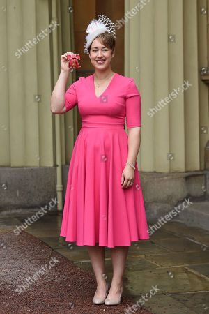 Stock Image of Lizzy Yarnold receives an OBE for services to Winter Olympic Sport