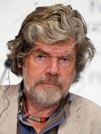 Italian Reinhold Messner and Polish Krzysztof Wielicki (not pictured), two climbing legends, offer a press conference in Oviedo, Spain, 18 October 2018. Messner and Wielicki will receive the Princess of Asturias Award of Sports 2018 in the Princess of Asturias Awards handover ceremony taking place in Oviedo on 19 October. The Princess of Asturias Awards are given every year to personalities or organizations from all around the world who make significant achievements in the sciences, arts, literature, humanities and sports.