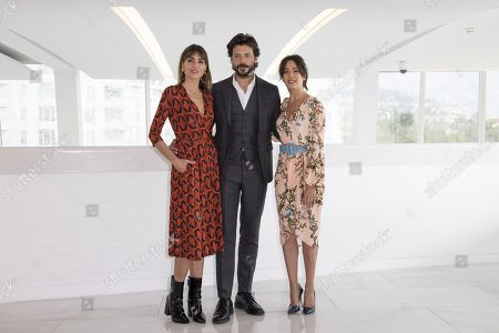 Irene Arcos, Alvaro Morte and Veronica Sanchez - 'The Peir'