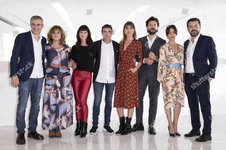 Stock Picture of Irene Arcos, Alvaro Morte, Veronica Sanchez, Alex Pina, Esther Martinez Lobato and Jesus Colmenar - 'The Peir'