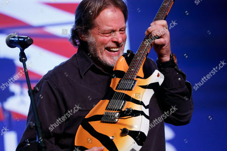Ted Nugent performs at a rally for Republican U.S. Senate candidate John James in Pontiac, Mich
