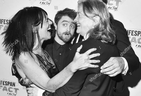 Leigh Silverman, Daniel Radcliffe, and Cherry Jones