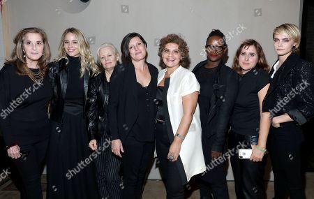 Paula Weinstein, Dianna Agron, Mary Harron, Rachel Morrison, Suha Araj, Effie T. Brown, Maryam Keshazar and Cara Delevingne