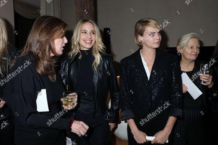 Paula Weinstein, Dianna Agron and Cara Delevingne