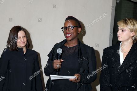 Stock Image of Amy Hobby, Effie T. Brown and Cara Delevingne