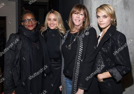 Effie T. Brown, Dianna Agron, Jane Rosenthal and Cara Delevingne