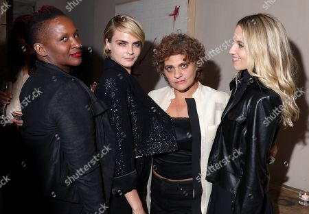 Effie T. Brown, Cara Delevingne, Suha Araj and Dianna Agron