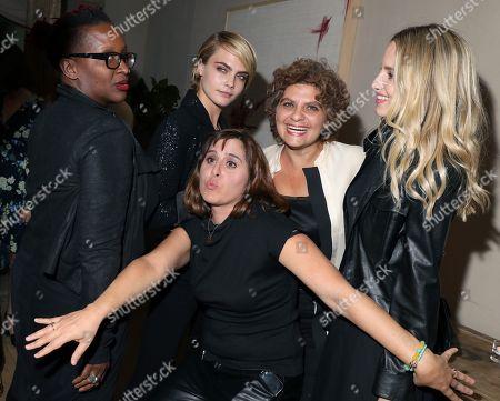 Effie T. Brown, Cara Delevingne, Maryam Keshazar, Suha Araj and Dianna Agron
