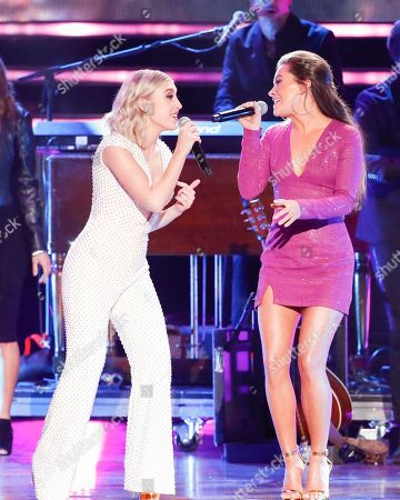 Maddie Marlow, Tae Dye. Maddie Marlow, left, and Tae Dye of Maddie & Tae perform at the 2018 CMT Artists of the Year show at the Schermerhorn Symphony Center, in Nashville, Tenn