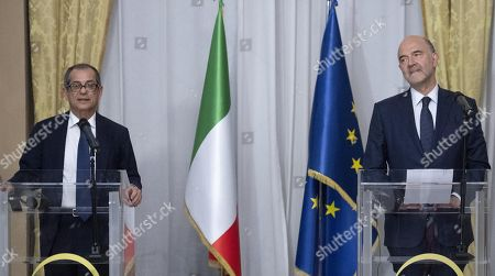 EU Commissioner Pierre Moscovici visit to Rome