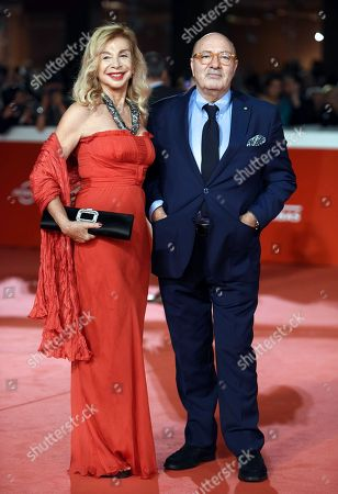 Italian set designer Francesca Lo Schiavo (L) and Italian production designer Dante Ferretti arrive for the premiere of 'Bad Times at the El Royale' and for the opening ceremony of the 13th annual Rome Film Festival, in Rome, Italy, 18 October 2018. The film festival runs from 18 to 28 October.