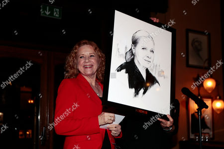 Norwegian actress Liv Ullman is honored with a portrait on the wall at Theatercafeen, a restaurant where many of the city's actors like to visit, in Oslo, Norway, 18 October 218.