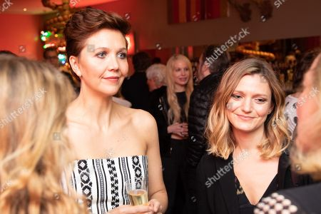 Maggie Gyllenhaal and Sara Colangelo at the Kindergarten Teacher BAFTA Screening at the Ham Yard Hotel in London 2018 on October 18, 2018
