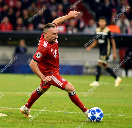 Frank Ribery    Football Champions League  Spiel  FC Bayern Muenchen  -  Ajax Amsterdam 02.10.2018  in Muenchen. DFL regulations prohibit any use of photographs as image sequences and / or quasi-video.