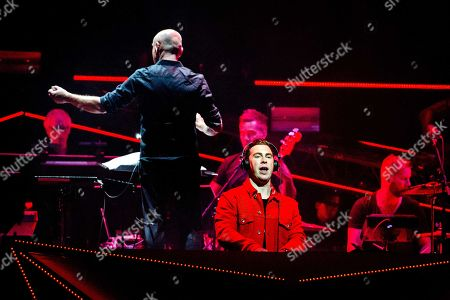 DJ Hardwell and the Metropole Orchestra during a performance in the Ziggo Dome as part of the Amsterdam Dance Event in Amsterdam, the Netherlands, on 18 october 2018.