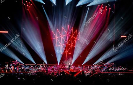 Editorial image of Hardwel performs with Metropole Orchestra at ADE, Amsterdam, Netherlands - 18 Oct 2018