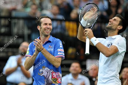 Double winner of Davis Cup Radek Stepanek say goodbye to his tennis career on October 18 at the O2 arena in Prague in the Czech Republic.