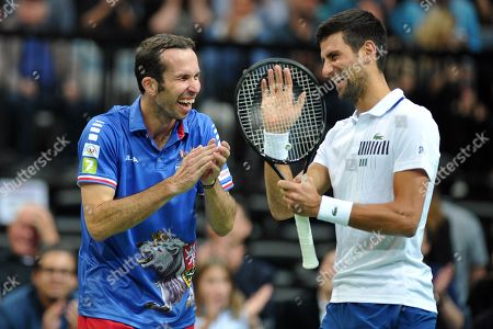 Double winner of Davis Cup Radek Stepanek says goodbye to his tennis career on October 18 at the O2 arena in Prague in the Czech Republic.
