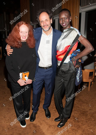 Grace Coddington, Film Director Luca Guadagnino and Alec Wek