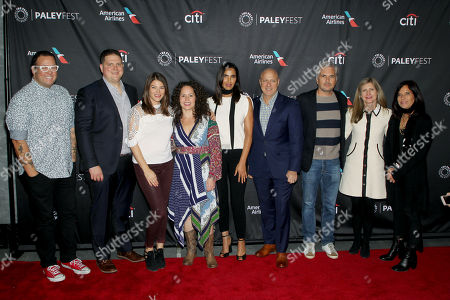 Graham Elliot, Joe Flamm, Gail Simmons, Stephanie Izard, Padma Lakshmi, Tom Colicchio, Dan Cutforth (Producer), Frances Berwick (Pres. NBC Universal), Jane Lipstiz (Magical Elves)