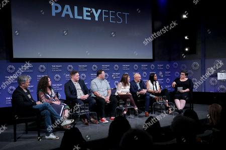 Dan Cutforth (Producer), Stephanie Izard, Joe Flamm, Graham Elliot, Gail Simmons, Tom Colicchio, Padma Lakshmi, Linda Holmes (moderator)