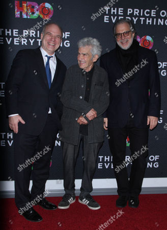 Stock Picture of Nathaniel Kahn, Larry Poons, Clifford Ross