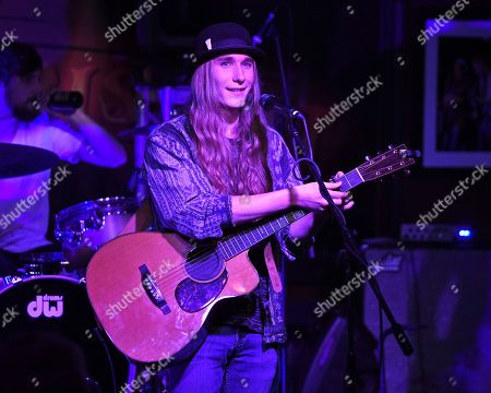 Editorial photo of Sawyer Fredericks in concert at The Funky Biscuit, Boca Raton, USA - 18 Oct 2018