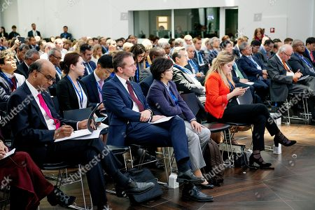 Danish Minister of Finance, Kristian Jensen, (C) attends P4G at the Confederation of Danish Industry in Copenhagen in connection with the PG4 Summit in Copenhagen, Denmark, 19 October 2018.. P4G stands for Partnering for Green Growth and the Global Goals 2030 and is a global initiative which Denmark is behind together with South Korea, Ethiopia, Vietnam, Chile, Mexico and Kenya.