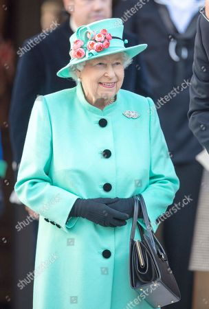 Queen Elizabeth visits the Lexicon Shopping Centre, Bracknell