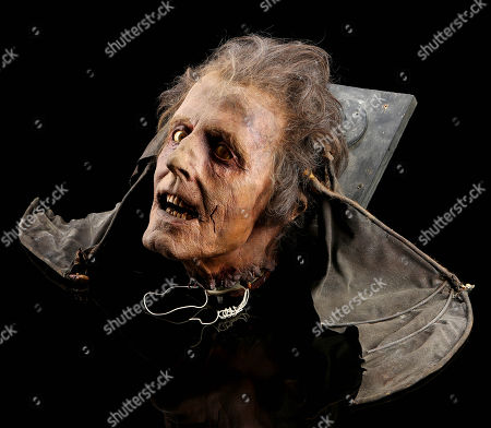 Stock Photo of Dr. Carl Hill's (David Gale) winged head puppet from Brian Yuzna's sci-fi horror sequel Bride of Re-Animator. Dr. Hill's winged head led a band of zombies against Dr. West (Jeffrey Combs) at the end of the film.