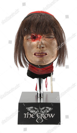 Stock Image of Myca's (Bai Ling) special-effects head used in the Alex Proyas fantasy thriller The Crow.