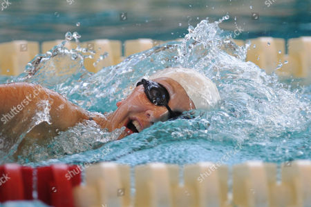 The GB pentathlete Freyja Prentice during a Women's Semi Final in the swimming event.