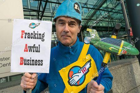 Fracking protest, London