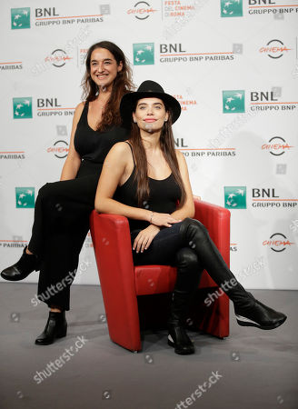 "Actress Eva De Dominici and director Barbara Sarasola-Day pose during the photo call of the movie ""Sangre Blanca "", (White Blood) at the 13th edition of the Rome Film Fest, in Rome"