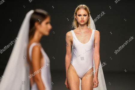 Models present creations by Portuguese designer Cristina Ferreira during the Portugal Fashion show in Porto, Portugal, 19 October 2018. The fashion event runs from 18 to 20 March in Porto.