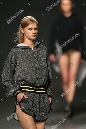 Stock Picture of Models present creations by Portuguese designer Cristina Ferreira during the Portugal Fashion show in Porto, Portugal, 19 October 2018. The fashion event runs from 18 to 20 March in Porto.