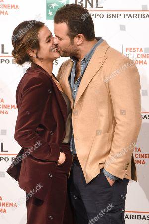 Director Edoardo De Angelis with his partner Pina Turco