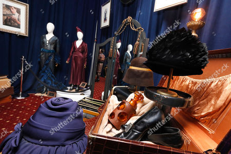 "A day collaborating with costume designer Colleen Atwood on a one-of-a-kind outfit inspired by ""Fantastic Beasts: The Crimes of Grindelwald,"" priced at $300,000, is displayed during a preview of the Neimen Marcus Christmas Book 2018, New York"