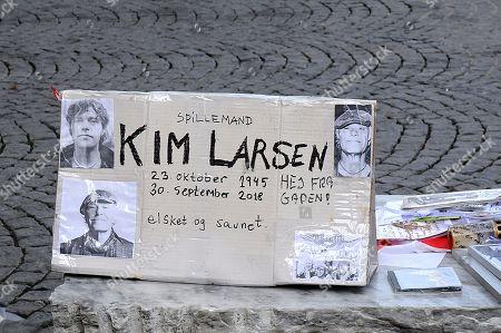 Editorial picture of Memorial to Danish musician Kim Larsen, Copenhagen, Denmark - Oct 2018