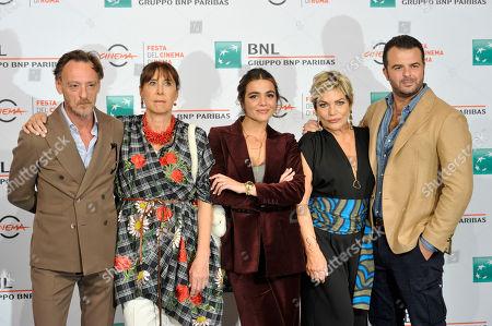 Stock Photo of Massimiliano Rossi, Marina Confalone, Pina Turco, Cristina Donadio, Edoardo De Angelis