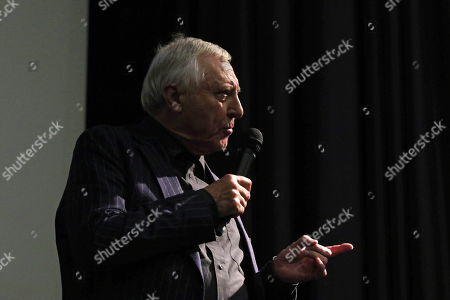 Peter Greenaway speaks during his master course held during the Alexandre Trauner Art/Film Festival in Szolnok, 98 kms southeast of Budapest, Hungary, 19 October 2018. The festival runs from 16 to 21 October.