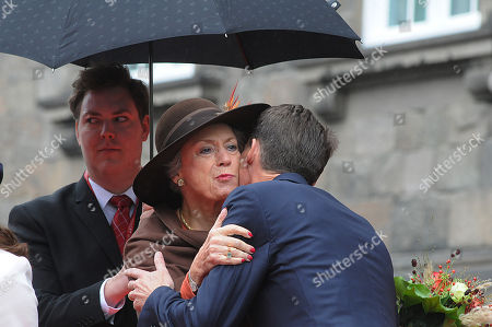 Princess Benedikte greets Prince Joachim