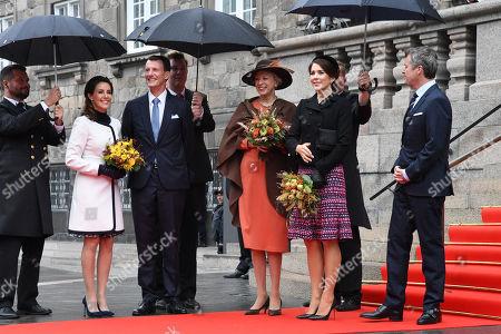 Crown Prince Frederik, Crown Princess Mary, Prince Joachim, Princess Marie , Princess Benedikt