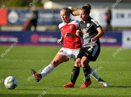 Rebecca Jane of Reading Women chasing the ball