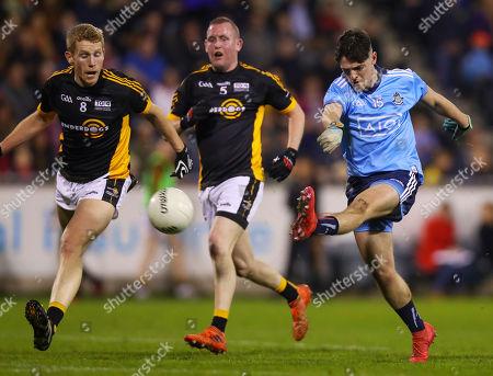 Dublin vs The Underdogs. Dublin?s Stephen Smith shoots to score a goal