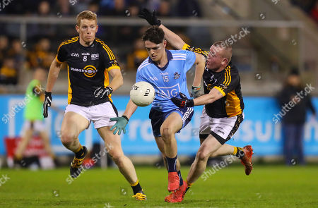 Dublin vs The Underdogs. Dublin?s Stephen Smith with Colm Flynn and Sean Brady of The Underdogs