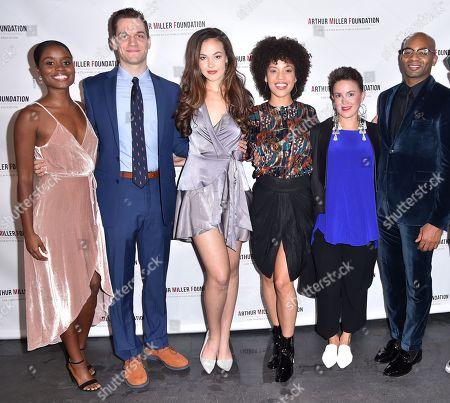 Denee Benton, guest, Solea Pfeiffer, Sasha Hutchings, Betsy Struxness, Brandon Victor Dixon